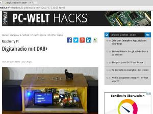 Hacks Digiradio T in Artikel
